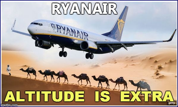 RYANAIR ALTITUDE  IS  EXTRA | made w/ Imgflip meme maker
