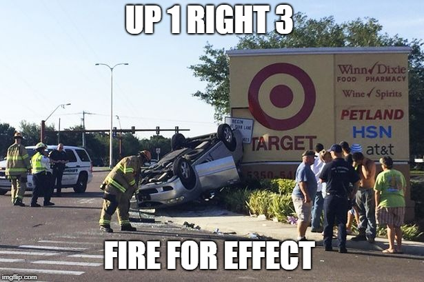 Target car crash | UP 1 RIGHT 3 FIRE FOR EFFECT | image tagged in target car crash | made w/ Imgflip meme maker