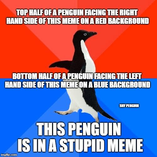 Socially Awesome Awkward Penguin Meme Imgflip