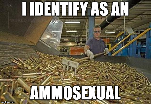 For those who are turned on by guns & ammo. | I IDENTIFY AS AN AMMOSEXUAL | image tagged in ammunition,ammo | made w/ Imgflip meme maker