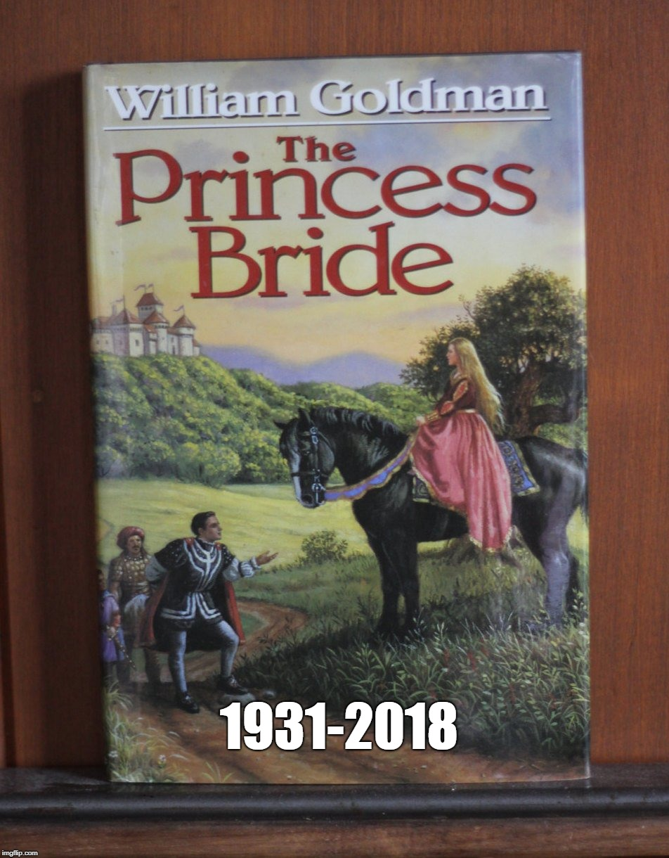 Rest in Peace William Goldman | 1931-2018 | image tagged in the princess bride,william goldman,2018,rip | made w/ Imgflip meme maker