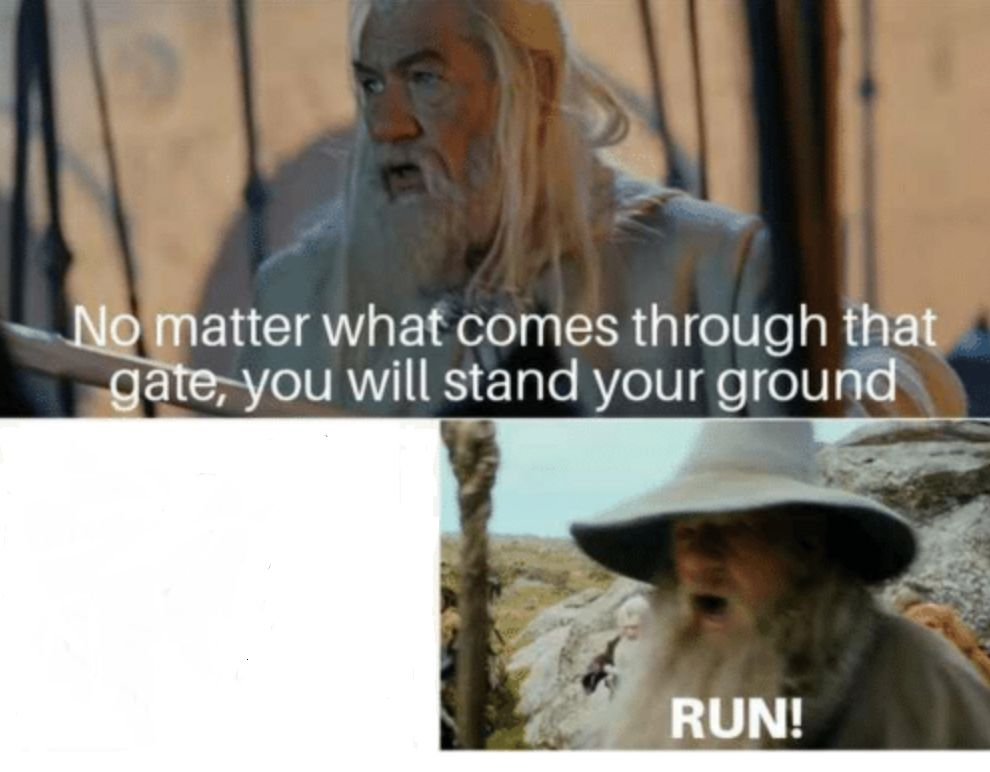 Gandalf Gate Blank Template Imgflip