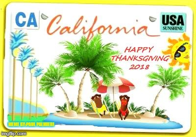 Wishing you Happy Thanksgiving from Southern California  | MEME BY:PAUL PALMIERI | image tagged in sexy thanksgiving,happy thanksgiving,turkeys,california,funny memes,sexy turkeys | made w/ Imgflip meme maker