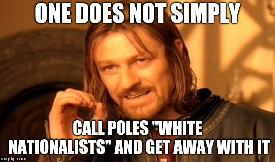 "One Does Not Simply Meme | ONE DOES NOT SIMPLY CALL POLES ""WHITE NATIONALISTS"" AND GET AWAY WITH IT 