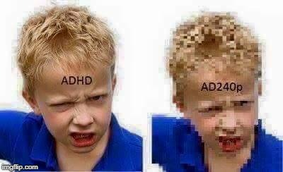 adhd | image tagged in adhd,resolution | made w/ Imgflip meme maker