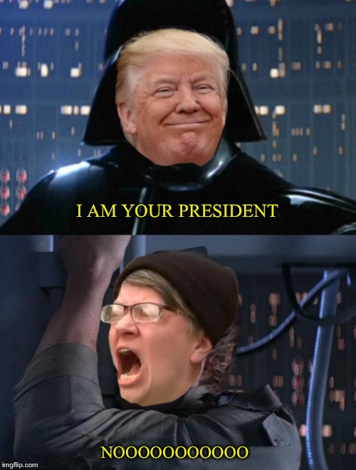 Don Vader | I AM YOUR PRESIDENT NOOOOOOOOOOO | image tagged in star wars,i am your father,autistic screeching,donald trump | made w/ Imgflip meme maker