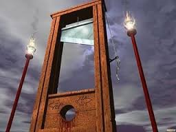 guillotine | image tagged in guillotine | made w/ Imgflip meme maker