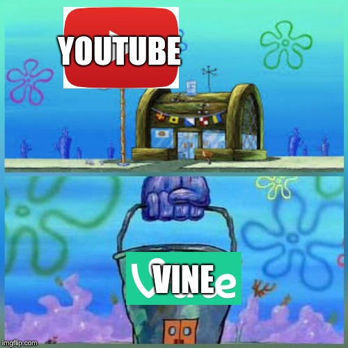 Krusty Krab Vs Chum Bucket | YOUTUBE VINE | image tagged in memes,krusty krab vs chum bucket | made w/ Imgflip meme maker