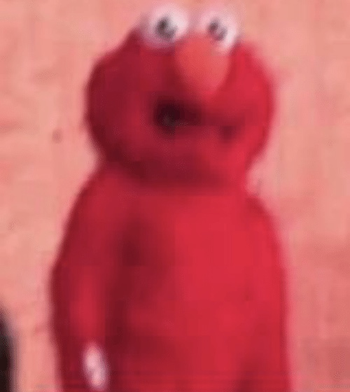 Scared Elmo Blank Template Imgflip