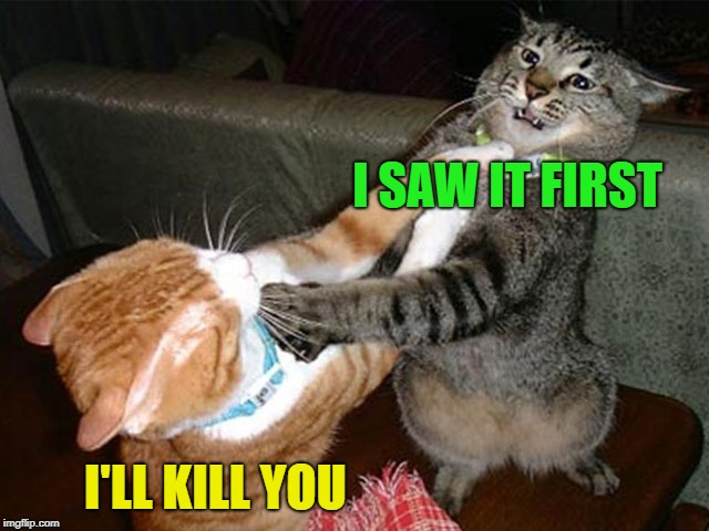 I SAW IT FIRST I'LL KILL YOU | made w/ Imgflip meme maker