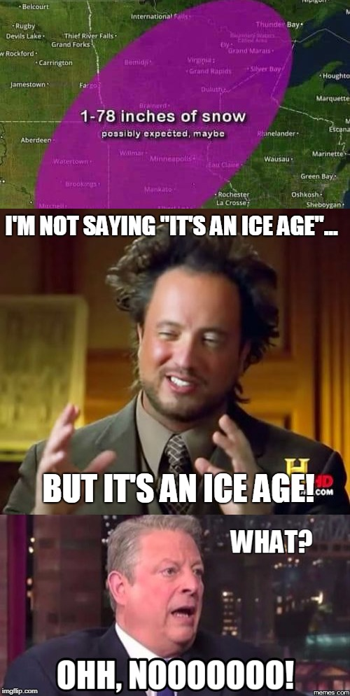 "but it's an ice age! | I'M NOT SAYING ""IT'S AN ICE AGE""... BUT IT'S AN ICE AGE! 