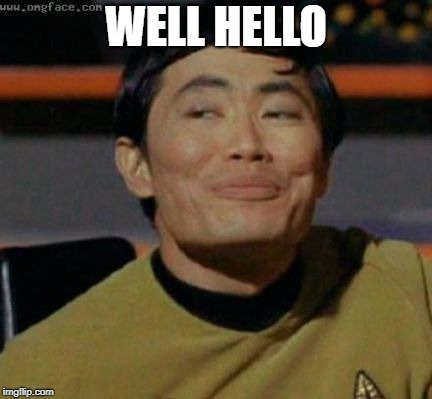 sulu | WELL HELLO | image tagged in sulu | made w/ Imgflip meme maker