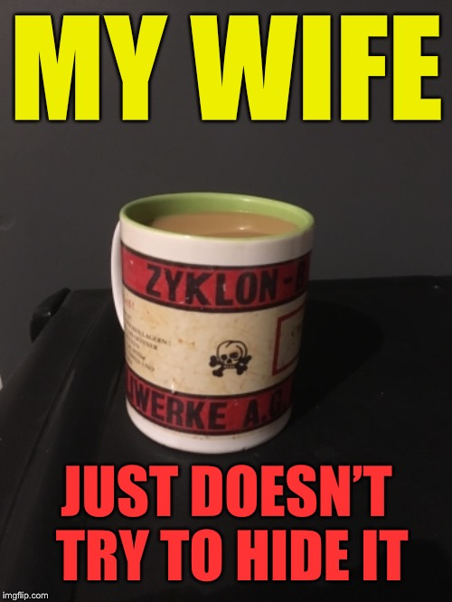MY WIFE JUST DOESN'T TRY TO HIDE IT | made w/ Imgflip meme maker