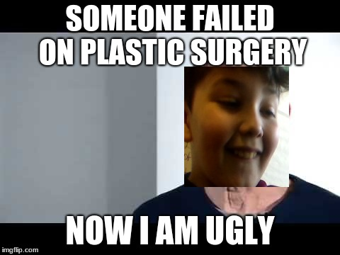 noice |  SOMEONE FAILED ON PLASTIC SURGERY; NOW I AM UGLY | image tagged in noice | made w/ Imgflip meme maker