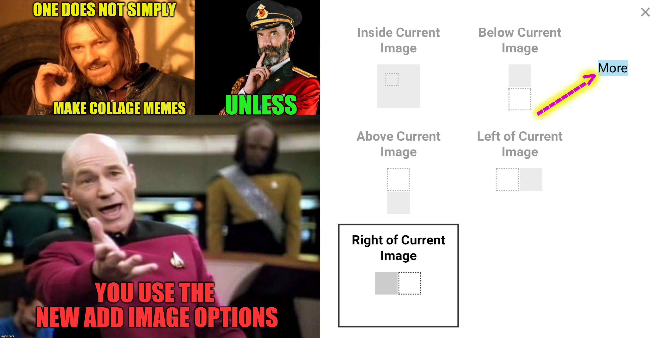 "There are new ""Add Image"" options in the Meme Generator 