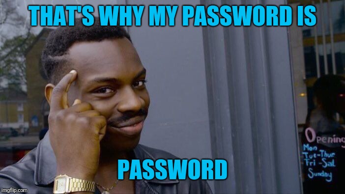 Roll Safe Think About It Meme | THAT'S WHY MY PASSWORD IS PASSWORD | image tagged in memes,roll safe think about it | made w/ Imgflip meme maker