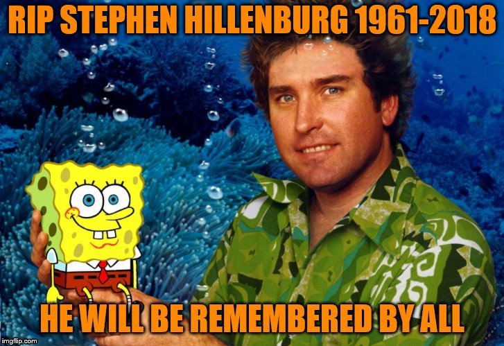 We Will Remember You Stephen! | RIP STEPHEN HILLENBURG 1961-2018 HE WILL BE REMEMBERED BY ALL | image tagged in rip stephen hillenburg | made w/ Imgflip meme maker