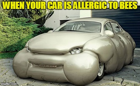 Sometimes the jokes write themselves and sometimes you get this instead | WHEN YOUR CAR IS ALLERGIC TO BEES | image tagged in car | made w/ Imgflip meme maker