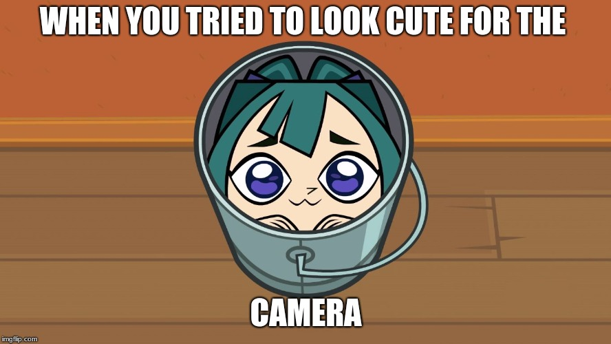 WHEN YOU TRIED TO LOOK CUTE FOR THE CAMERA | image tagged in kawaii gwen | made w/ Imgflip meme maker