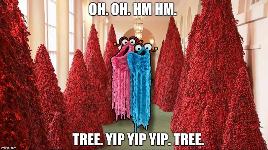 White House Christmas 2020 Yip Yip Yip Image tagged in tree xmas melania whitehouse   Imgflip