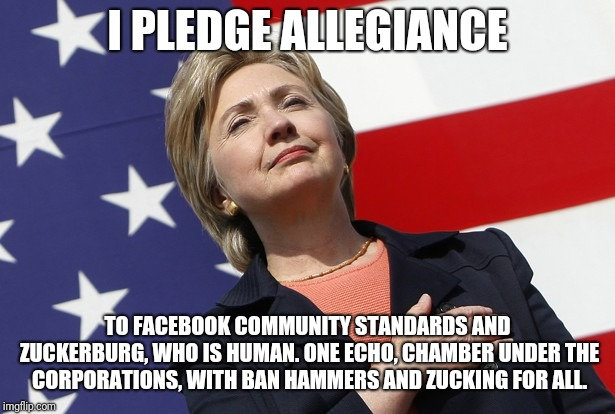 Hillary flag pledge - Imgflip