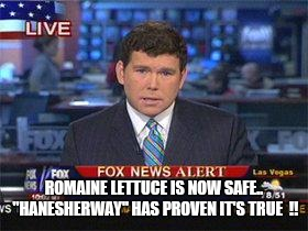 "So worth the hospital visit.. lost 20 pounds in 3 days !!! | ROMAINE LETTUCE IS NOW SAFE.. ""HANESHERWAY"" HAS PROVEN IT'S TRUE  !! 