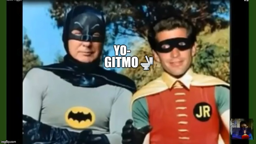 BM Jailhouse Rock  | GITMO | image tagged in batman and robin,drain the swamp,deep state,gitmo,qanon,the great awakening | made w/ Imgflip meme maker
