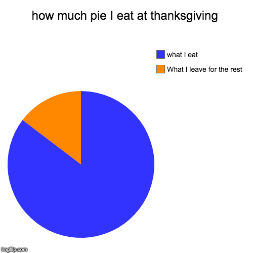 how much pie I eat at thanksgiving | What I leave for the rest, what I eat | image tagged in funny,pie charts | made w/ Imgflip pie chart maker