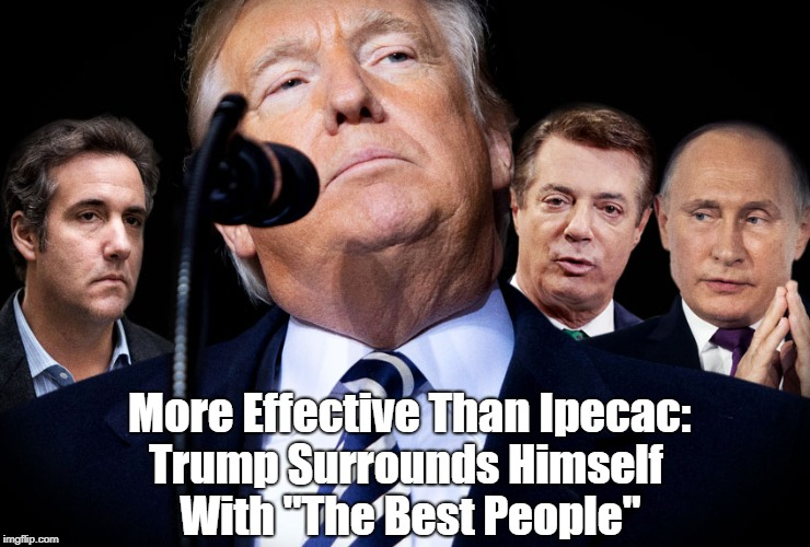 """More Effective Than Ipecac: Trump Surrounds Himself With """"The Best People""""   made w/ Imgflip meme maker"""