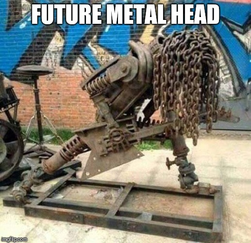Heavy metal | FUTURE METAL HEAD | image tagged in heavy metal | made w/ Imgflip meme maker