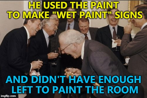 "That wasn't a ""happy little accident"" :) 