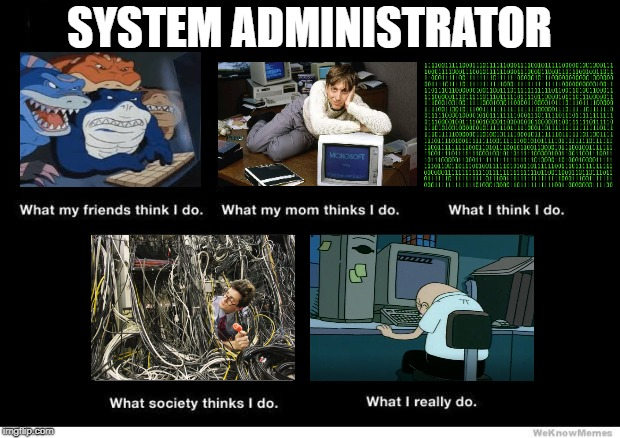 What I really do | SYSTEM ADMINISTRATOR | image tagged in what i really do | made w/ Imgflip meme maker
