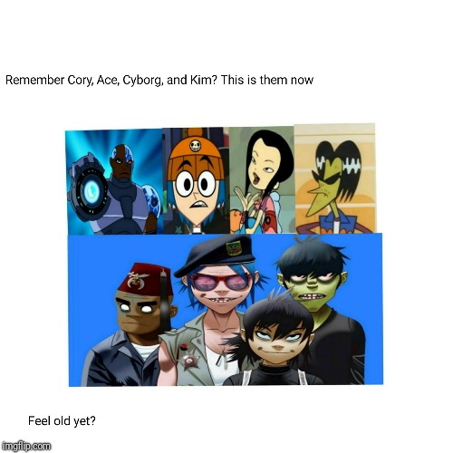 Gorillaz in the Past | image tagged in gorillaz,cartoon network | made w/ Imgflip meme maker