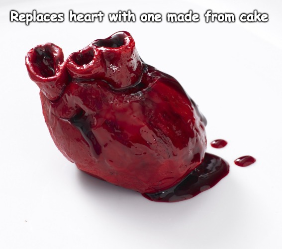 Eat your Heart out. | Replaces heart with one made from cake | made w/ Imgflip meme maker
