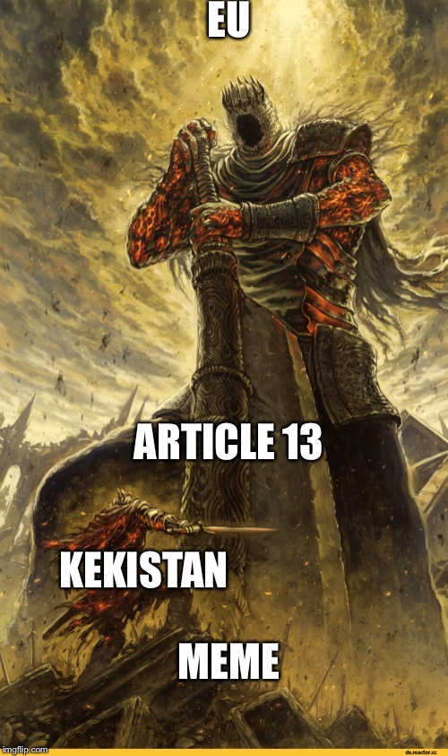 Fantasy Painting | EU ARTICLE 13 MEME KEKISTAN | image tagged in fantasy painting | made w/ Imgflip meme maker