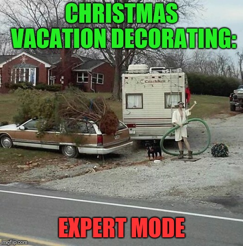 Christmas Vacation Week - A Thparky event   | CHRISTMAS VACATION DECORATING: EXPERT MODE | image tagged in christmas vacation week,christmas vacation,christmas,decorating,pipe_picasso | made w/ Imgflip meme maker