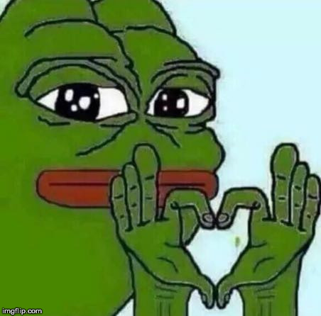 pepe love | . | image tagged in pepe love | made w/ Imgflip meme maker