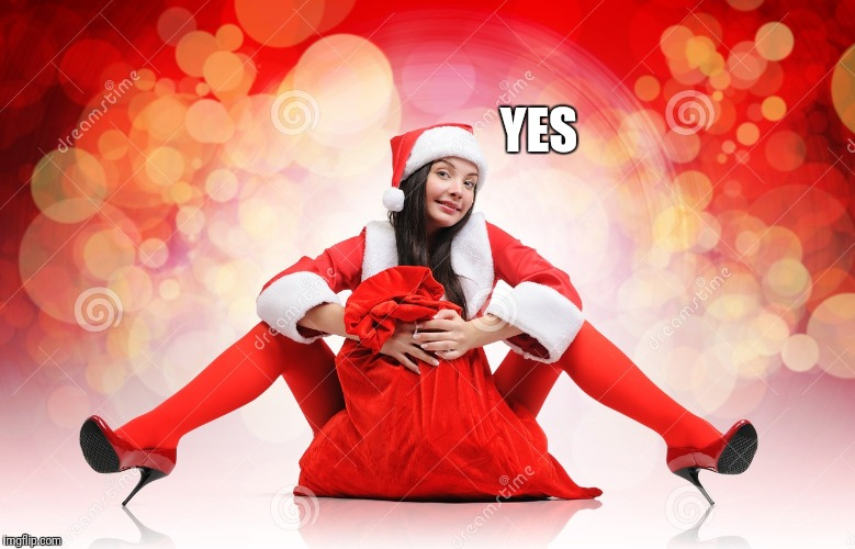 sexy elf Santa | YES | image tagged in sexy elf santa | made w/ Imgflip meme maker