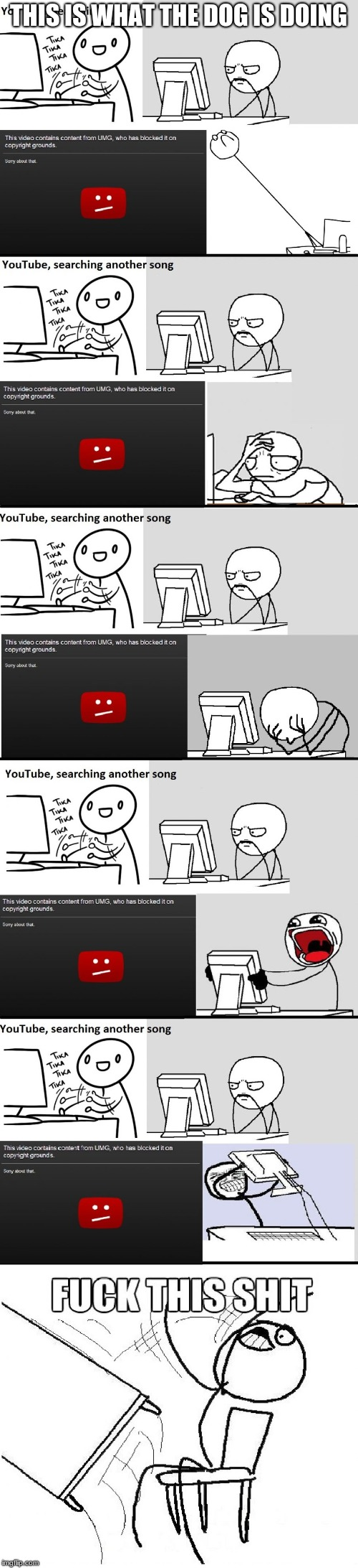 YouTube Music Song Search Meme | THIS IS WHAT THE DOG IS DOING | image tagged in youtube music song search meme | made w/ Imgflip meme maker