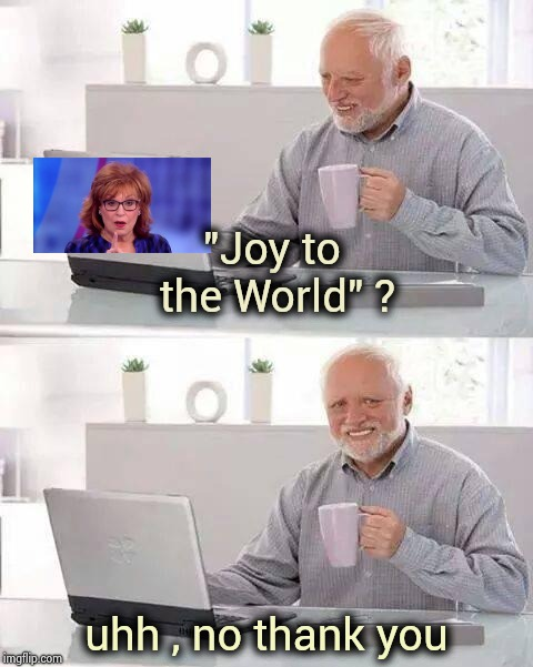"Joyless Behar , ugly inside and out | ""Joy to the World"" ? uhh , no thank you 