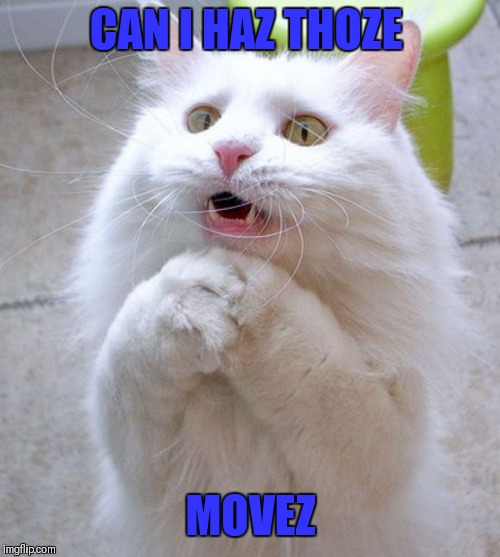 I Can Haz | CAN I HAZ THOZE MOVEZ | image tagged in i can haz | made w/ Imgflip meme maker