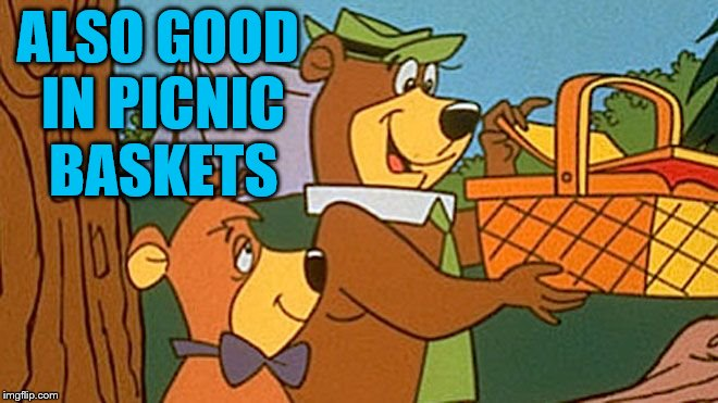 Yogi Picnic | ALSO GOOD IN PICNIC BASKETS | image tagged in yogi picnic | made w/ Imgflip meme maker
