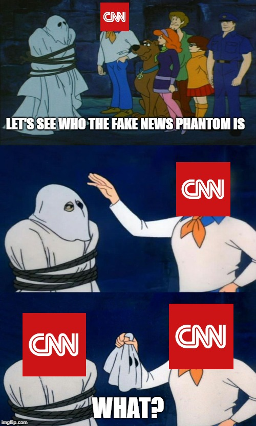 Scooby Doo The Ghost | LET'S SEE WHO THE FAKE NEWS PHANTOM IS WHAT? | image tagged in scooby doo the ghost | made w/ Imgflip meme maker