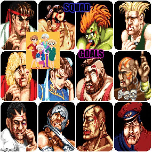 Characters From Street Fighter 2 Imgflip