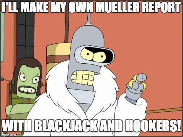 Donald Trump on his 87 page response to the not-out-yet Mueller report.