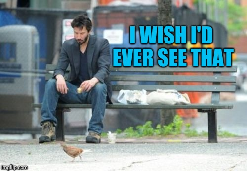 Sad Keanu Meme | I WISH I'D EVER SEE THAT | image tagged in memes,sad keanu | made w/ Imgflip meme maker