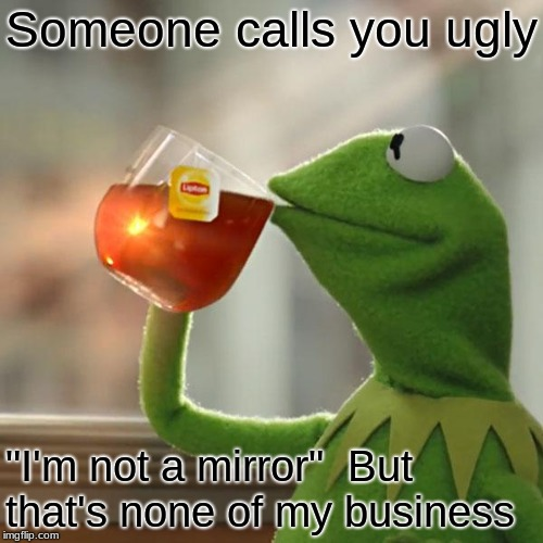 "But Thats None Of My Business | Someone calls you ugly ""I'm not a mirror""  But that's none of my business 