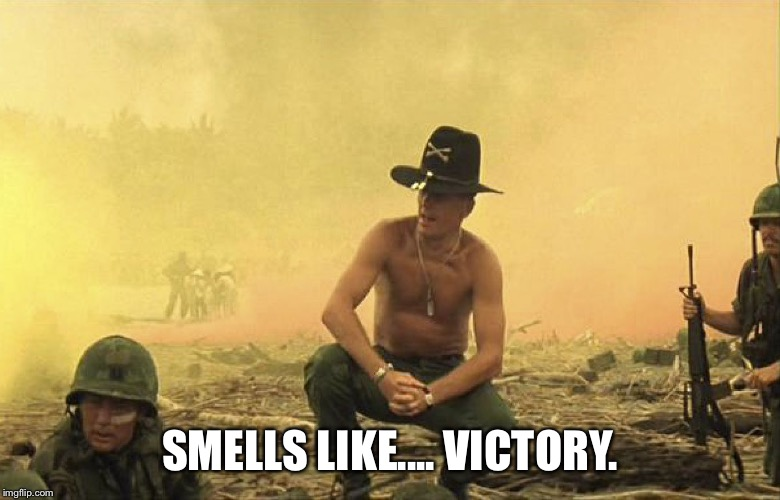 SMELLS LIKE.... VICTORY. | image tagged in smells like victory | made w/ Imgflip meme maker