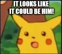 Suprised Pikachu | IT LOOKS LIKE IT COULD BE HIM! | image tagged in suprised pikachu | made w/ Imgflip meme maker