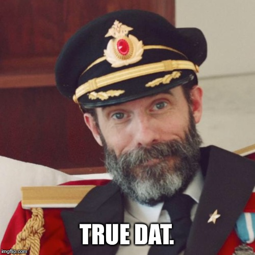 Captain Obvious | TRUE DAT. | image tagged in captain obvious | made w/ Imgflip meme maker